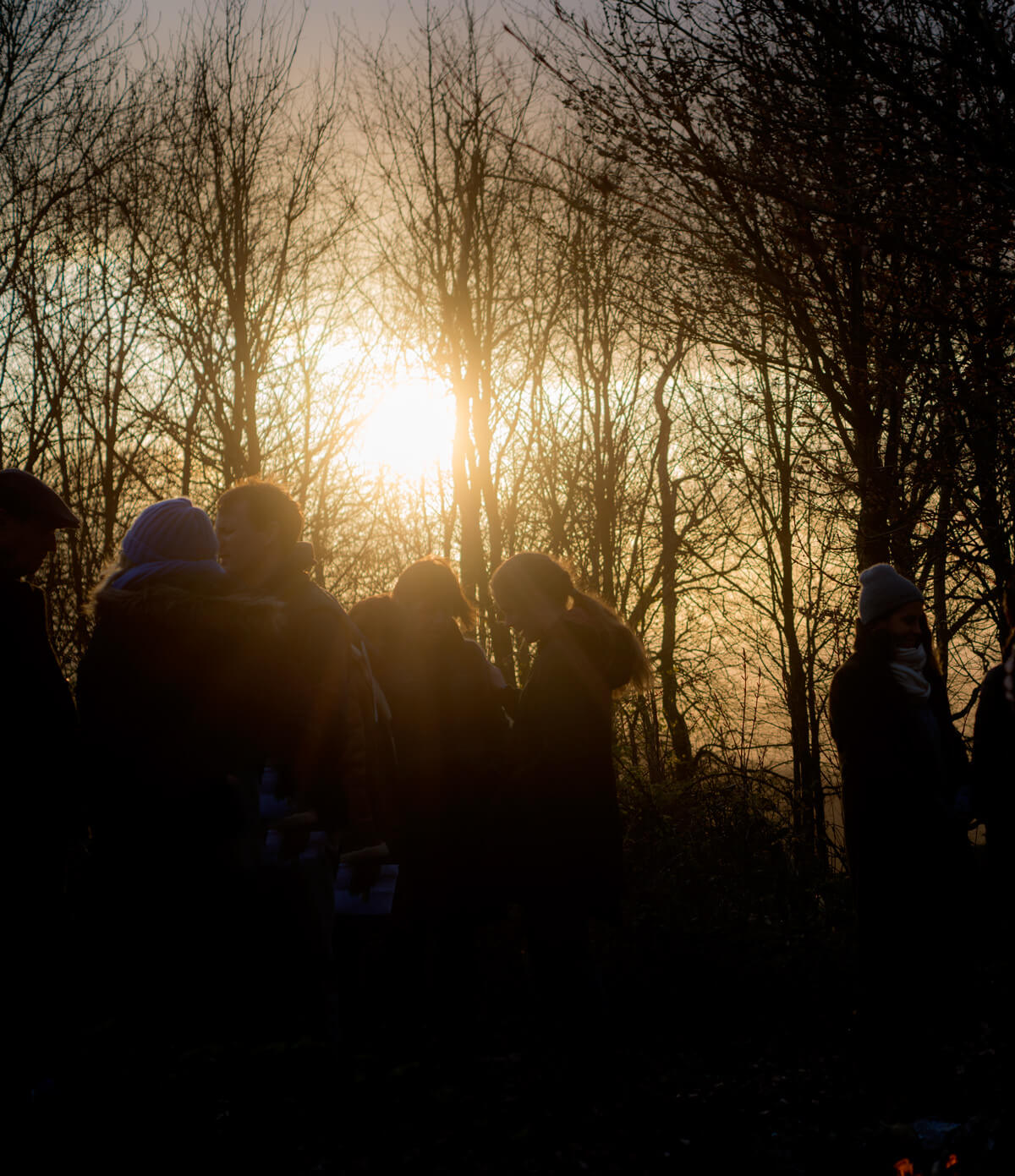 Prayer at sundown at Chanctonbury Ring