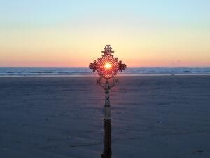 Sunset on Burry Holme Beach
