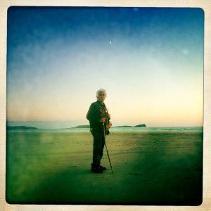 Larry Littlebird on Burry Holmes Beach, Wales.