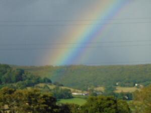 Rainbow over Avebury
