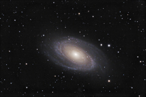 Contemplating the vastness of God - Bodes Galaxy (M81) photo taken from the Monastic Island of Bardsey.