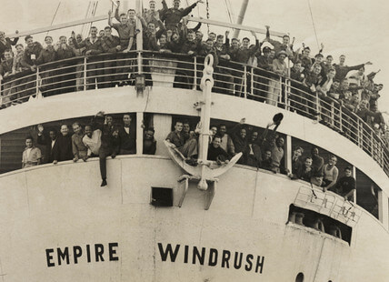 Empire Windrush Ocean LIner carrying West Indian migrants to Britain in the 1950's.