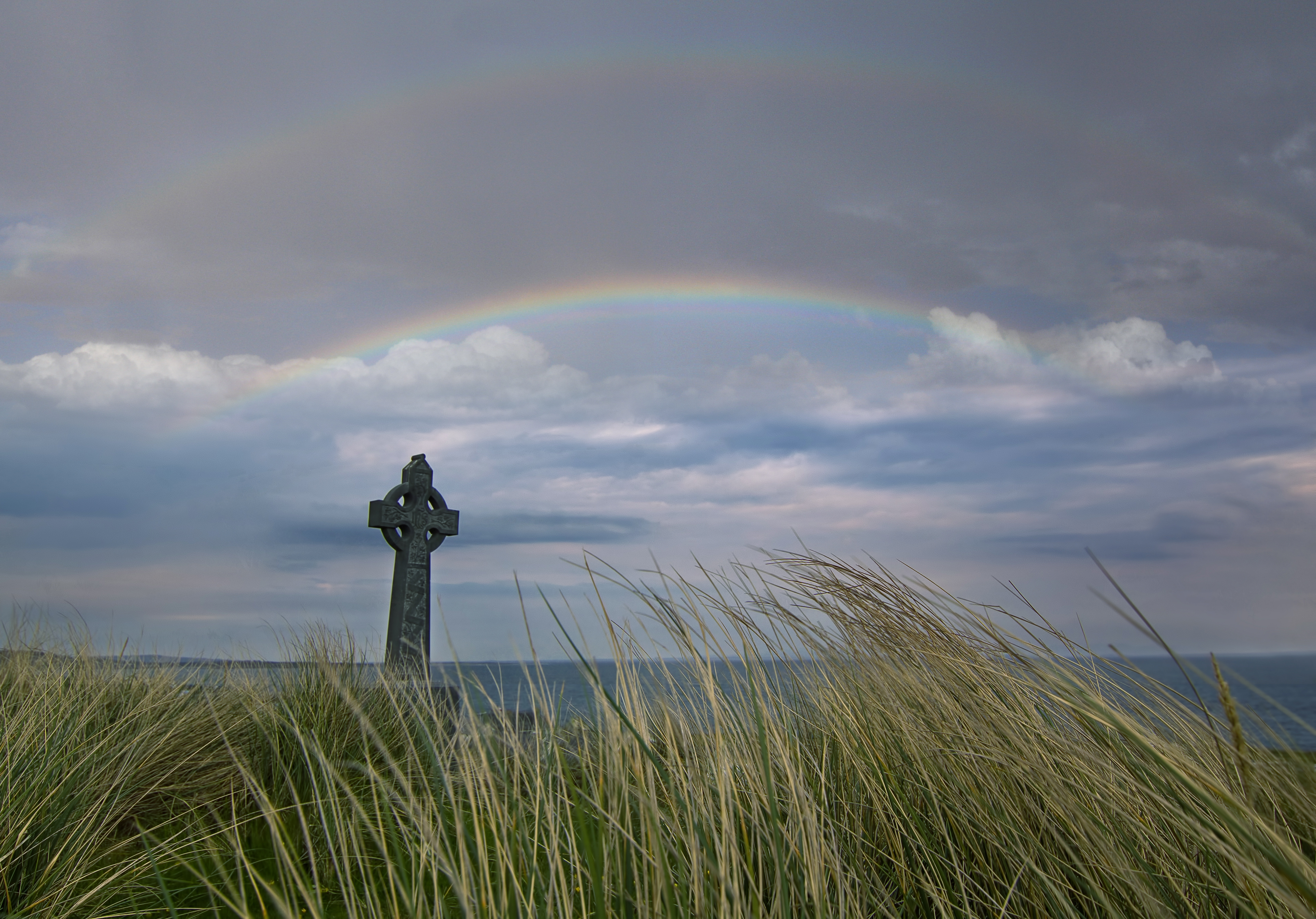 Celtic Cross in Rainbow